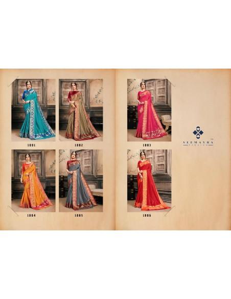 Seemayra Fashion Banjara Silk S1005 Red Cotton Silk Saree